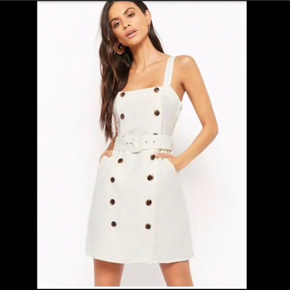 aa1407eb69 Forever 21 Dresses   Skirts - ⚫ SALE ⚫ White Linen Dress